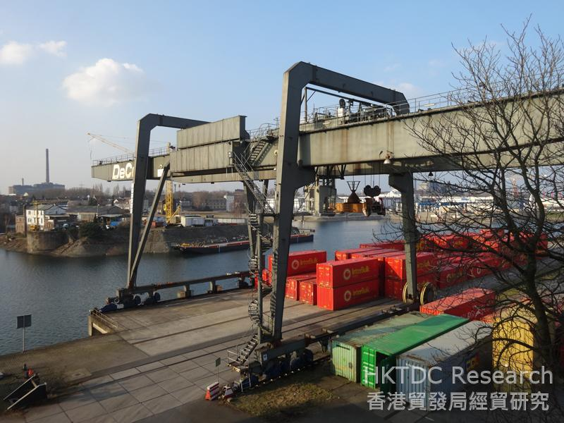 Photo: The Port of Duisburg is the world biggest inland container port