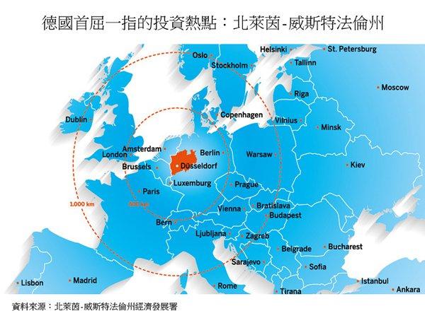 图: 德国首屈一指的投资热点:北莱茵-威斯特法伦州