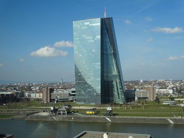 相片:歐洲中央銀行位於美茵河畔
