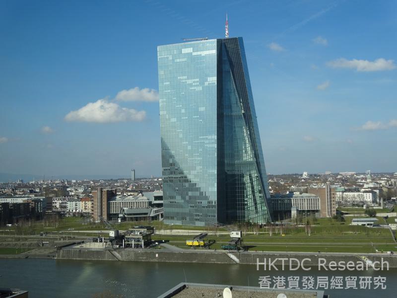 相片:欧洲中央银行位于美茵河畔