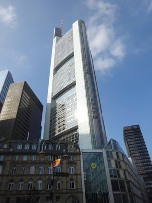 相片:德國商業銀行總部位於法蘭克福