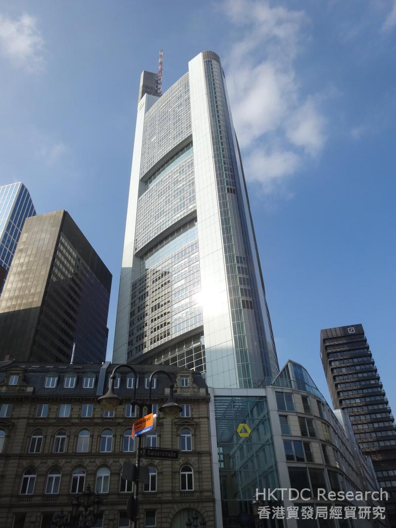 相片:德国商业银行总部位于法兰克福