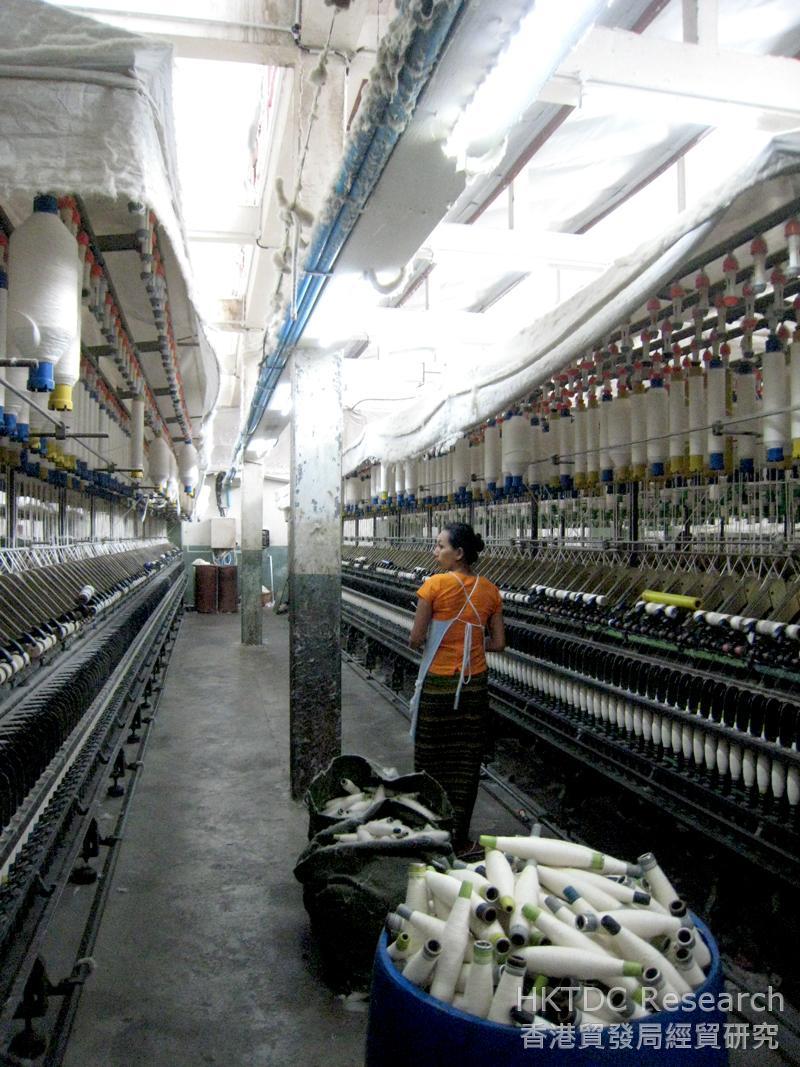图: 曼德勒一家纺织厂