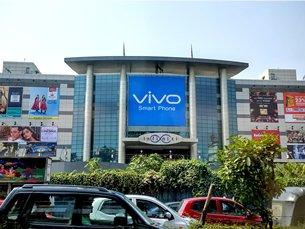 圖: 在印度各大商場的中國智能手機品牌