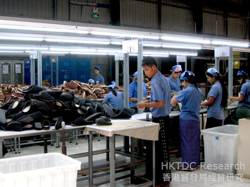 Photo: A shoe factory with most raw materials imported from China