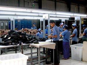 圖: 一家鞋廠從中國進口大部分原料
