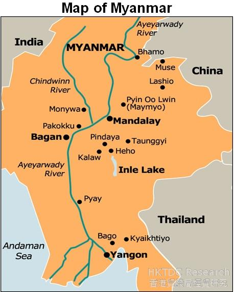 Picture: Map of Myanmar