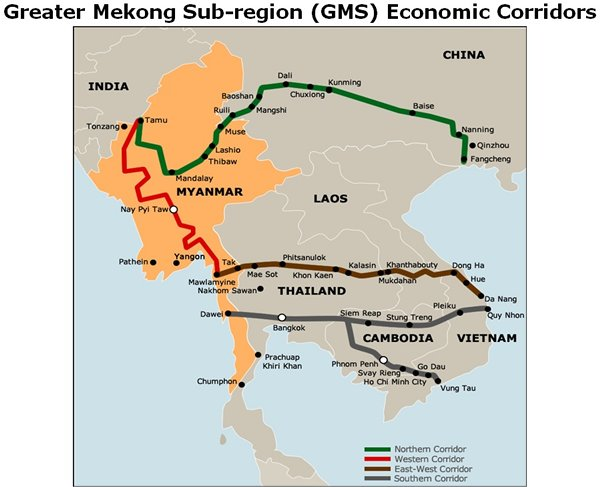 Picture: Greater Mekong Sub-region (GMS) Economic Corridors