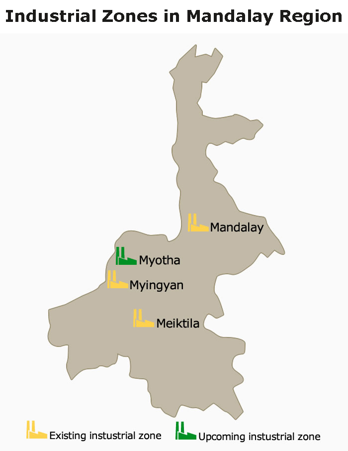 Map: Industrial Zone in Mandalay Region