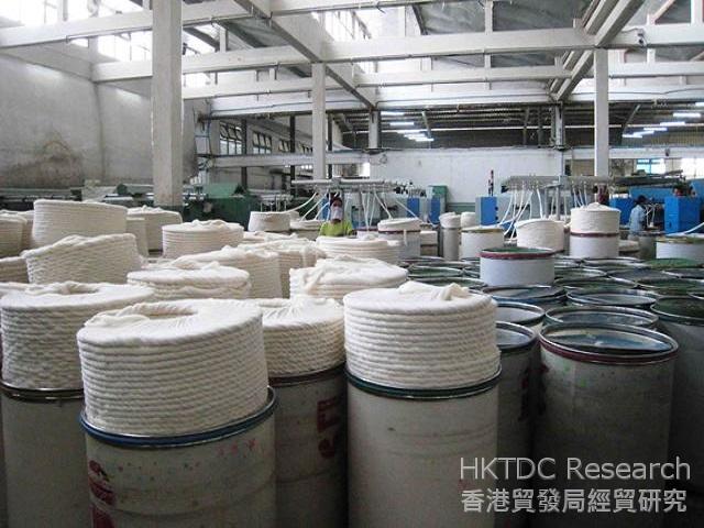 圖: 位於曼德勒工業區的紡織廠。