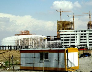 Photo: High-rise buildings under construction