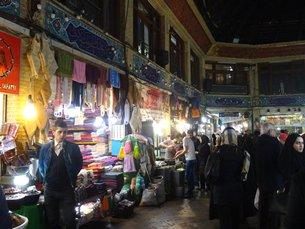Photo: A traditional bazaar in Tehran