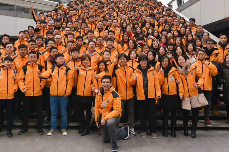 Photo: In four years, Tim Lee led QFPay Near from a three-staff startup company into a team of 500.