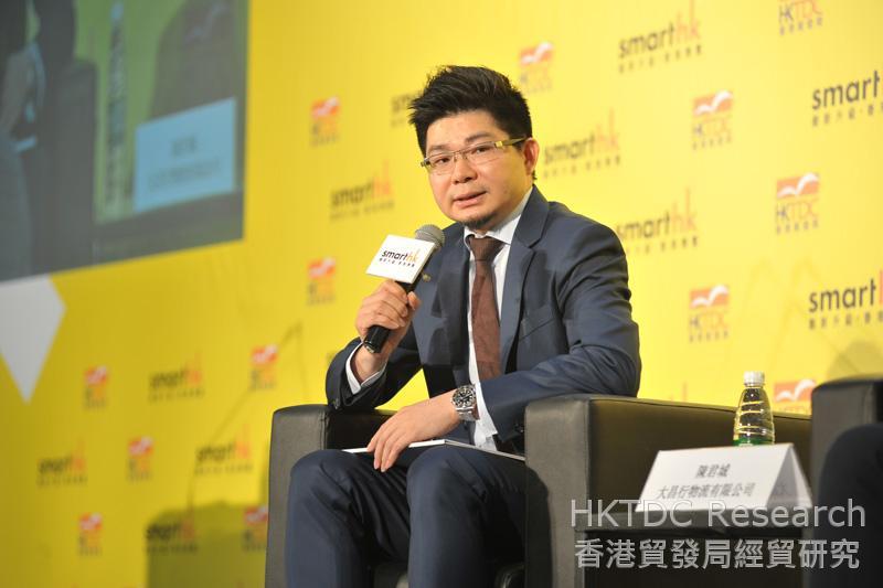 相片:陳君城先生指出冷鏈物流最大的挑戰在於管理。