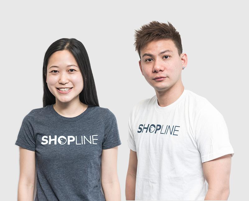 相片: Shopline联合创办人刘煦怡(左)和黄浩昌(右)。