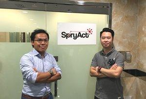 相片:SpryAct联合创始人李之期(左)和曹诗朗(右)。