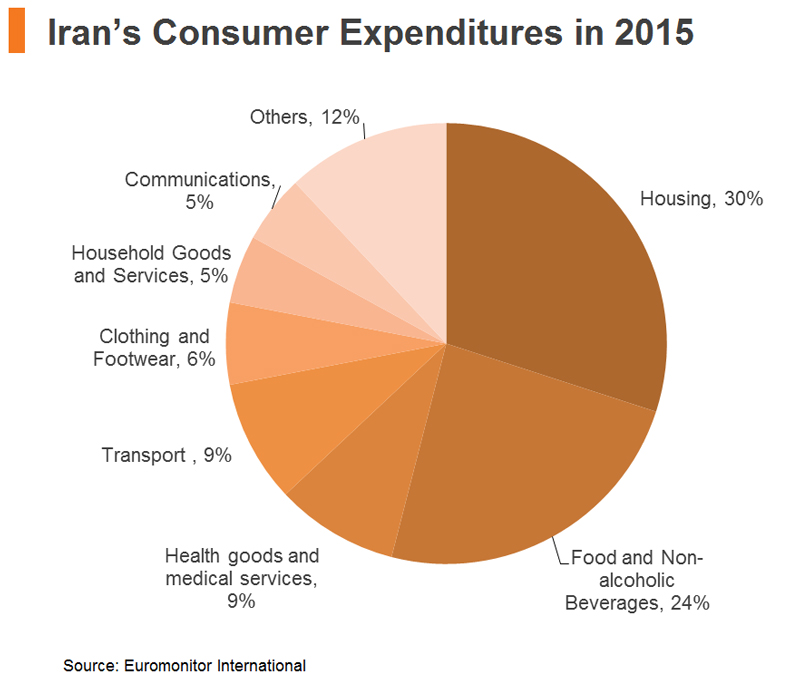 Chart: Iran's Consumer Expenditures in 2015