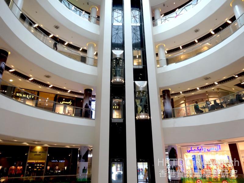 Photo: A modern shopping mall in Tehran.