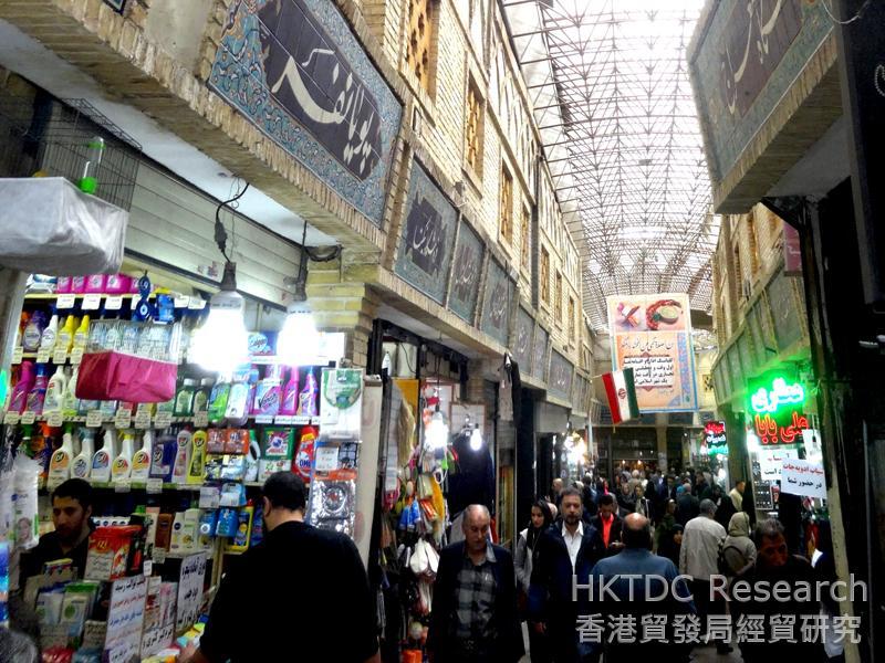 Photo: A traditional bazaar in Tehran.