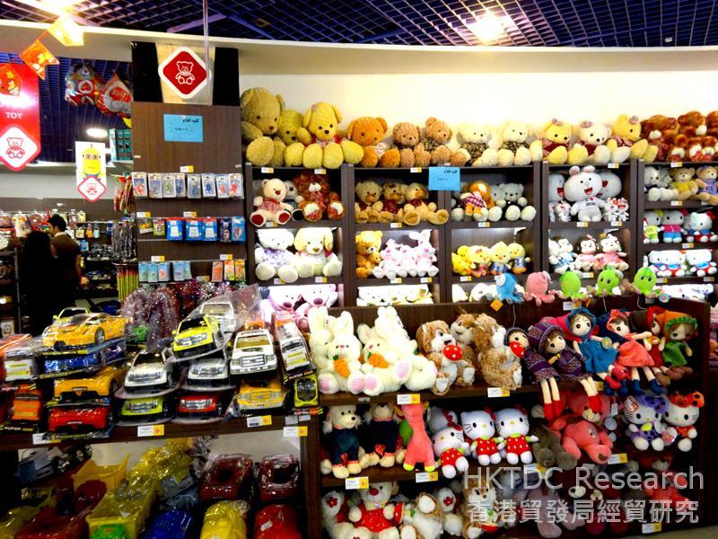 图: 马什哈德(Mashhad)一间现代商店销售各种各样的进口玩具。
