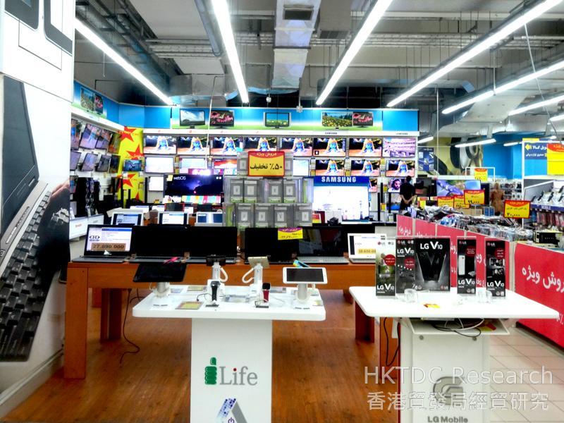 图: 外国品牌电子产品深受伊朗中产消费者欢迎。