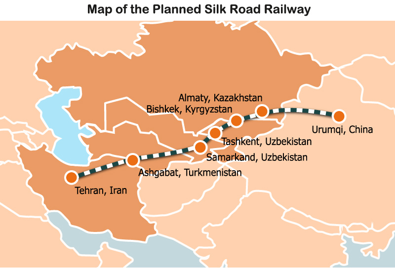 Map: The Planned Silk Road Railway