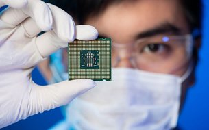 Photo: One out of every two notebook computers in the world has its CPU packaged & tested in Chengdu