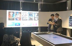 相片:雷克系統聯合創辦人郭正光(左)出席「公開數據工作室」研討會。