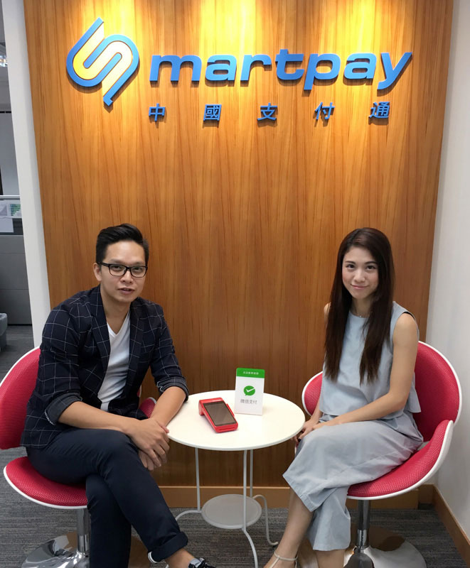 Photo: Steve Lam (left) and Twinkle Wong (right), China Smartpay.