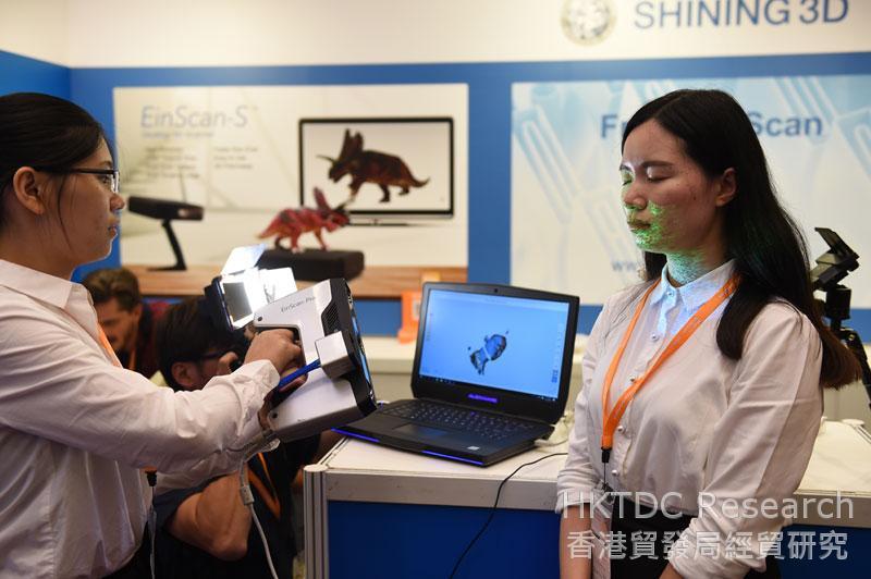 相片:參展商示範3D掃描。