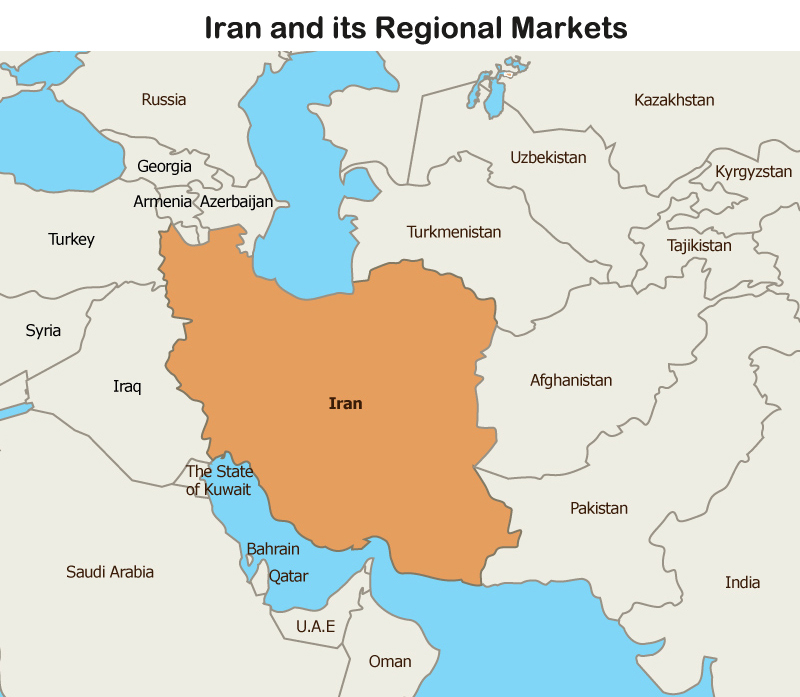 Map: Iran and its Regional Markets