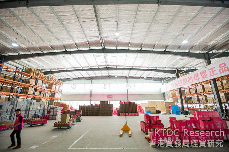Photo: Beibei's imported products bonded warehouse.