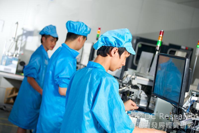 相片:江门企业希望销售更多消费品和工业产品往「一带一路」市场。(二)