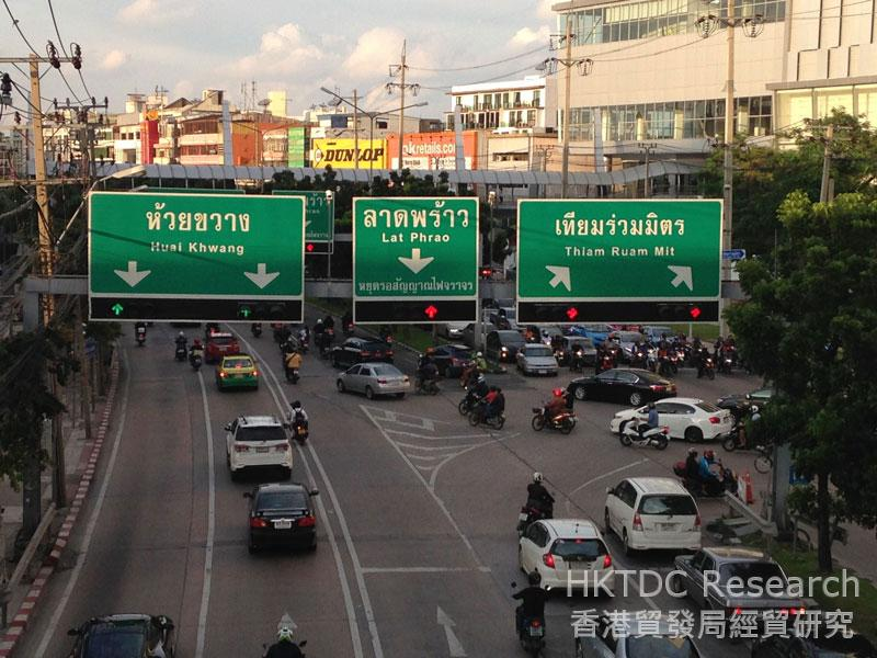 Photo: Traffic is always heavy in Bangkok.