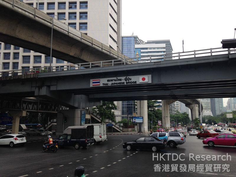 相片:日本一直是泰國的主要外來投資來源地。