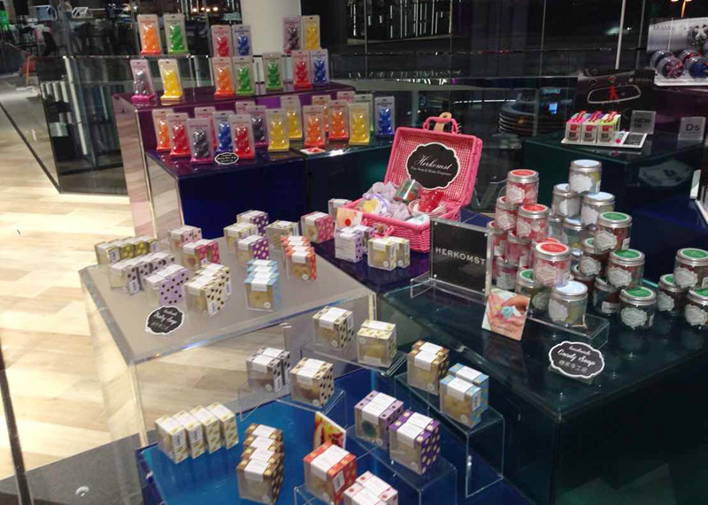 Photo: Herkomst's range of handmade soaps and home fragrances giftware.