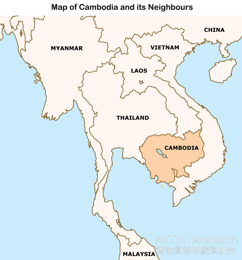 Map: Map of Cambodia and its Neighbours