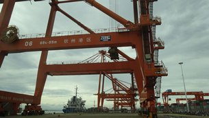 Photo: A container terminal located at Guangxi of China.