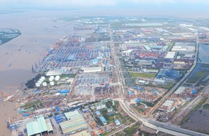 Photo: Aerial view of Deep C Industrial Zone in Hai Phong. (Photograph provided by Deep C Industrial
