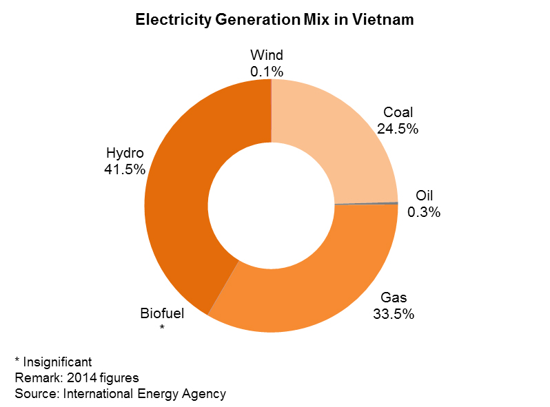 Chart: Electricity Generation Mix in Vietnam
