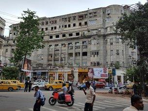圖: 西孟加拉邦加爾各答市中心街景。