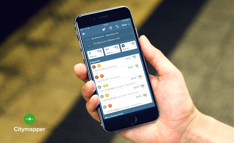 相片:Citymapper是一個城市交通數碼應用程式,公司總部設於倫敦。