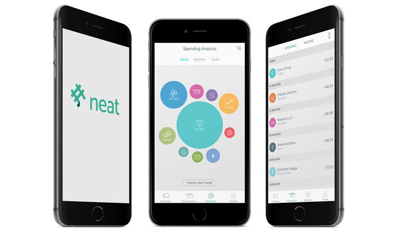 图片:Neat的流动应用程式协助用户记录开支。
