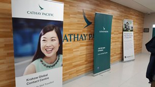 Photo: In April 2016, Cathay Pacific opened its fourth Global Contact Centre in Kraków.