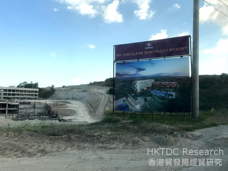圖: 克拉克自由區正在興建的度假村。