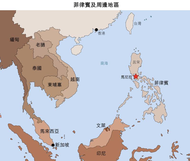 地圖: 菲律賓及周邊地區