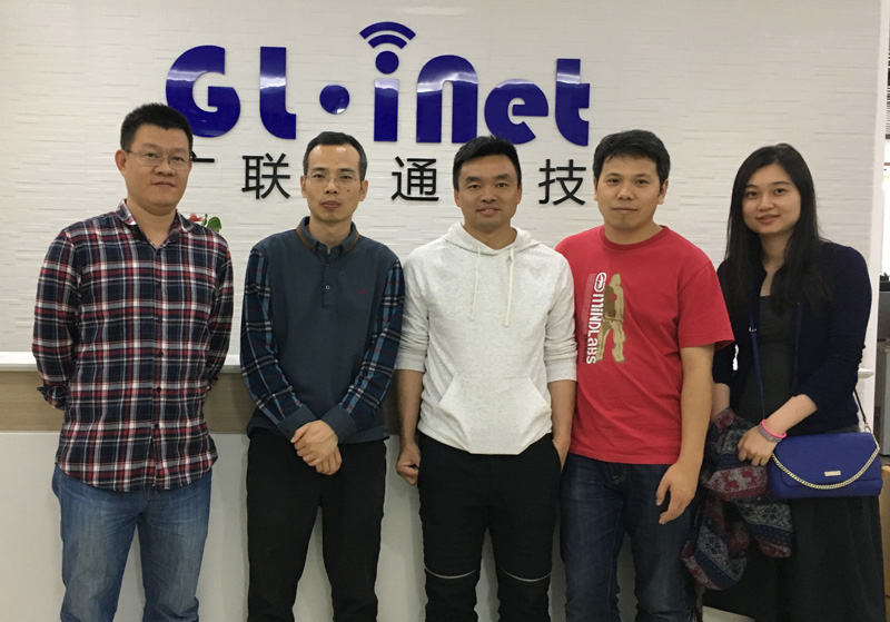 Photo: Alfie Zhao (the second right), CEO of GL Technologies.