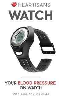 相片: Heartisans的監察血壓智能手錶。