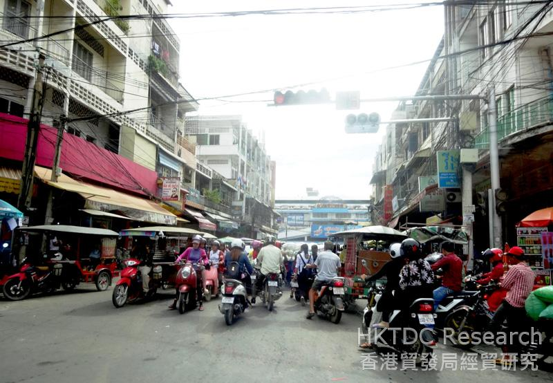 Photo: Morning traffic in Phnom Penh.
