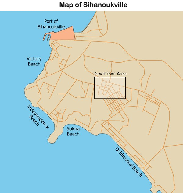 Map: Sihanoukville
